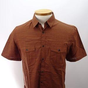Alfani Men's Deep Brown Polo Shirt Size M NWOT